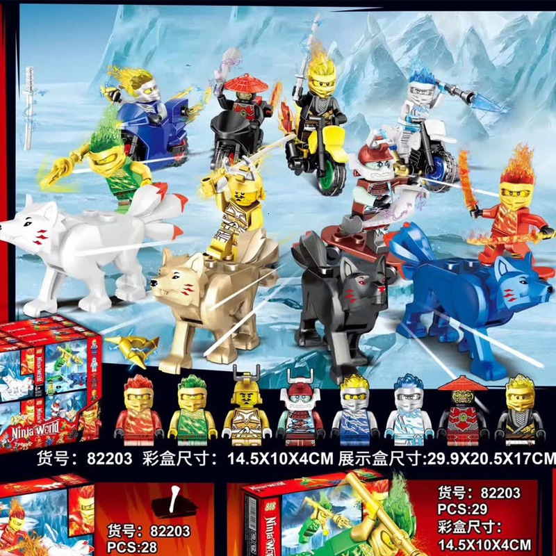 Ninjas Fighting with Weapons Building Blocks Action Figures Toy GiGimelon 24 Pcs Pack Ninja Figures Set Boys Kids Gift us42