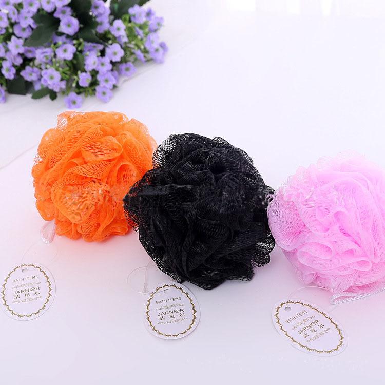 Multi Colors 20g Bath Shower Sponge Pouf Nylon Mesh Brush Shower Ball, Mesh Bath and Shower Sponge WCW631