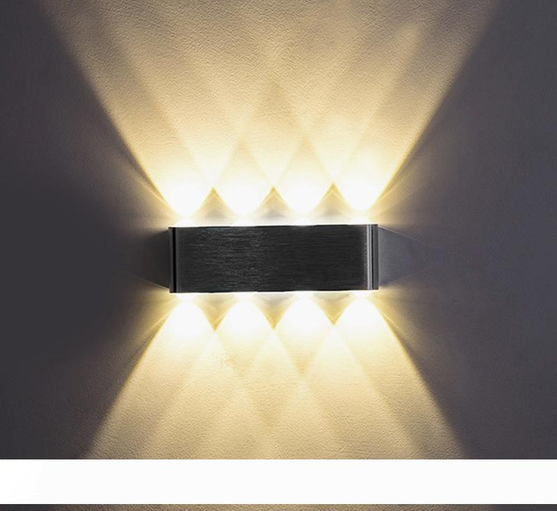 DEL Smart Home mur plafond éclairage murale éclairage de chrome mat 35x35x8 cm d111