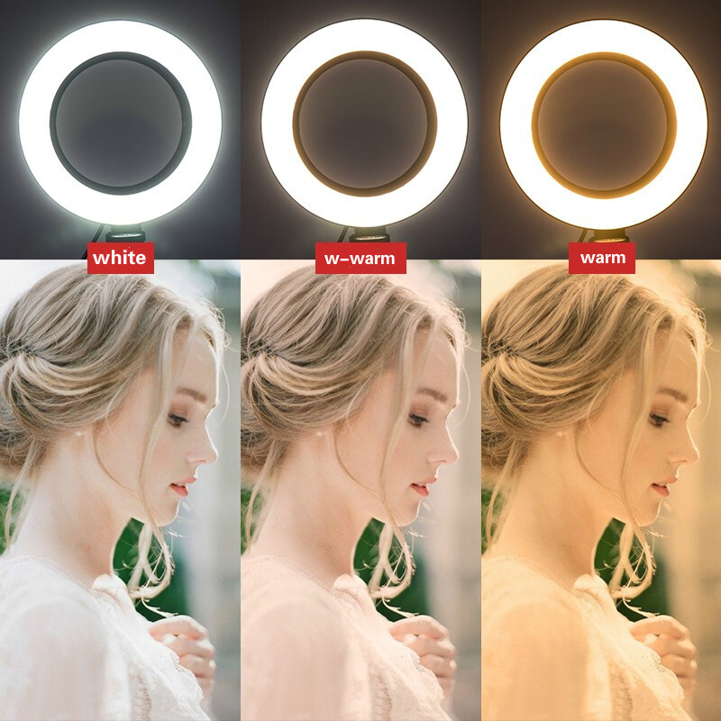 BEIYANG-16CM-6-Inch-LED-Selfie-Ring-Light-Studio-Photography-Photo-Ring-Fill-Light-with-Tripod