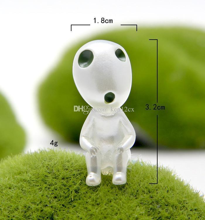 Anime Mononoke Hime Princess Mononoke Figure Toy luminous tree elves Spirit Kodama gardening PVC Doll Great Gift Totoro