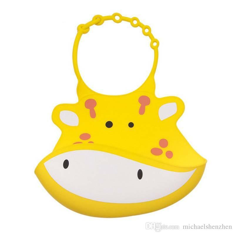 10 Style Baby Infants Kids Cute Animal pattern Bibs Newborn Children Waterproof Feeding Burp Food grade silica gel Lunch Bibs B001