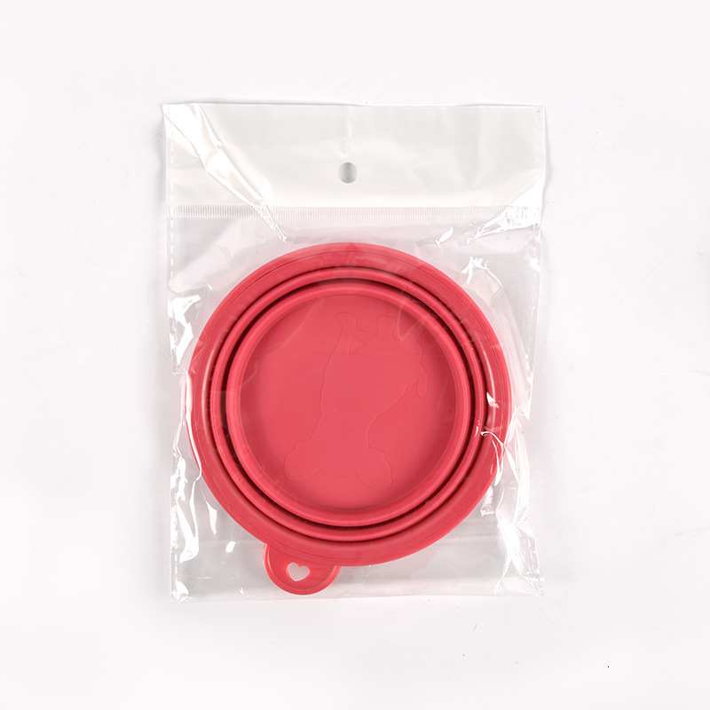 350ML Silica Gel Bowl Belt Mountaineering Buckle Printing Dish Dog Universal Reusable Folding Disc Pets Articles Direct selling 2sl p1