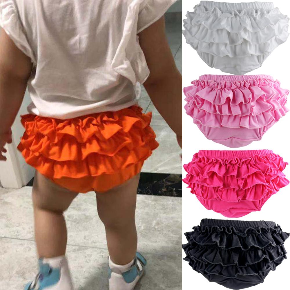 3pcs Baby Rüschen Bloomers Schichten Windel Abdeckung Shorts Röcke Sommer
