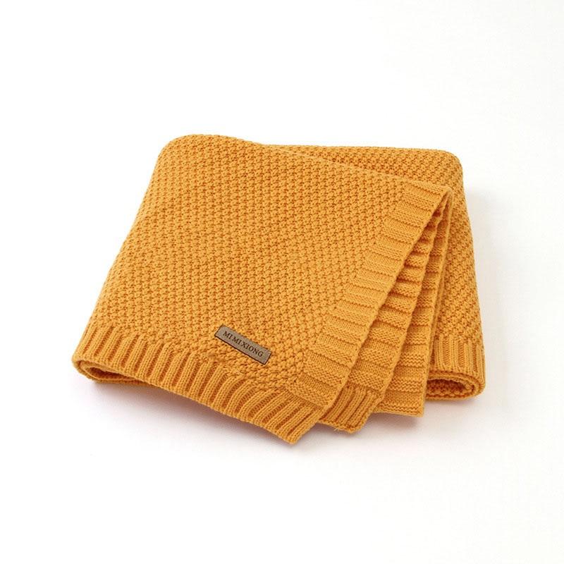 MOTOHOOD Kids Blanket Casual Baby Blankets Knitted Newborn Swaddle Wrap Soft Toddler Sofa Crib Quilt Baby Stroller Blanket (1)