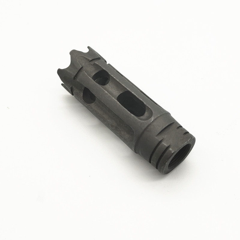 Steel competion flash hider muzzle brake 1/2-28 5/8-24 with washer