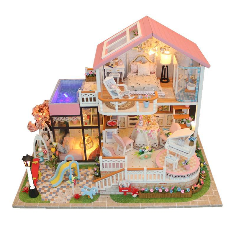 Hecho A Mano Miniatura Casa De Muñecas Accesorio de Lona Estilo Imagen Amor
