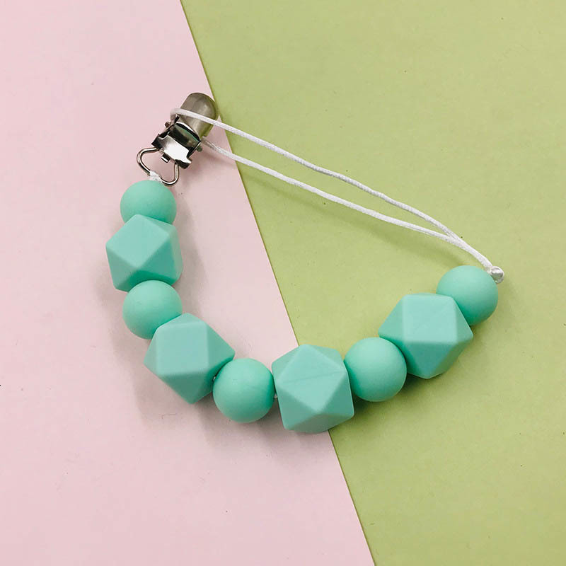 New style DIY Baby Pacifier Holder Clips Silicone Pacifier Chain Baby Teether Holder Clip Bead Chains Feeding for Kids Gifts Toys A9401