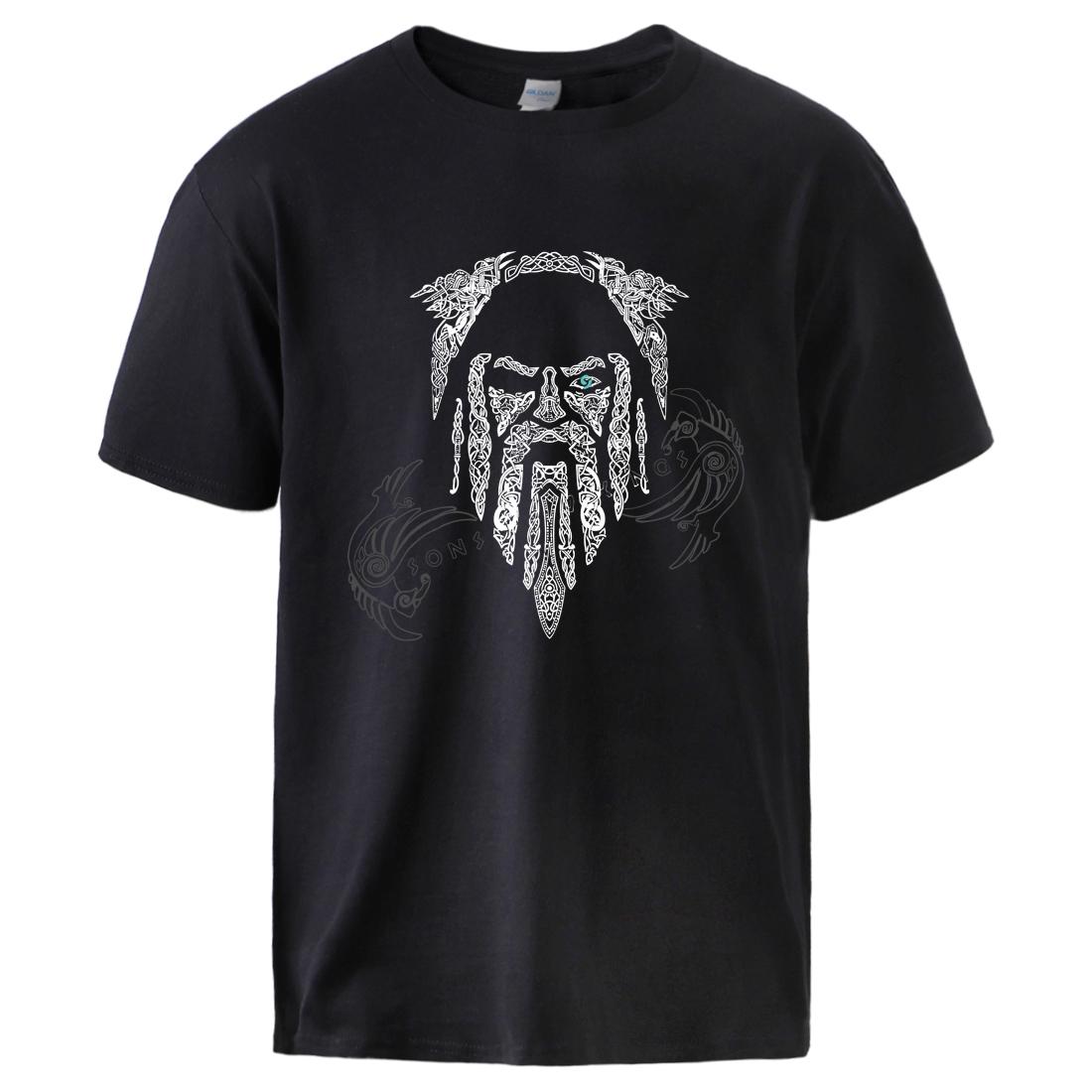 Odin Vikings Son Of Odin Mens Top Tee Summer Short Sleeve Cotton Tshirts 2020 Summer Spring Man Brand Hip Hop Streetwear T shirt