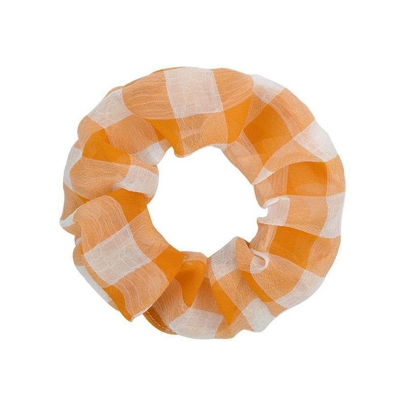 Girls Women Colorful Plaid Scrunchie Elastic Hair Rubber Band Hair Rope Ponytail Holder Headdress Beautiful HuiLin C411