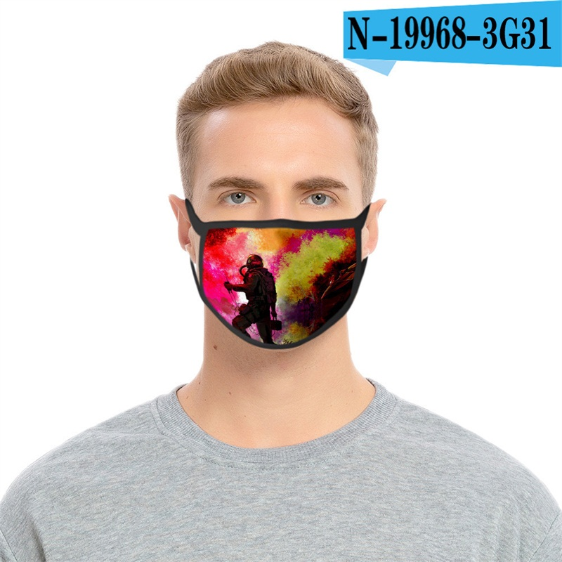 Anti Haze Cloth Face Mask Reusable Mascarilla Washable Respirator Science Fiction Printing Iced Silk Ultraviolet Proof 2 2glc D2