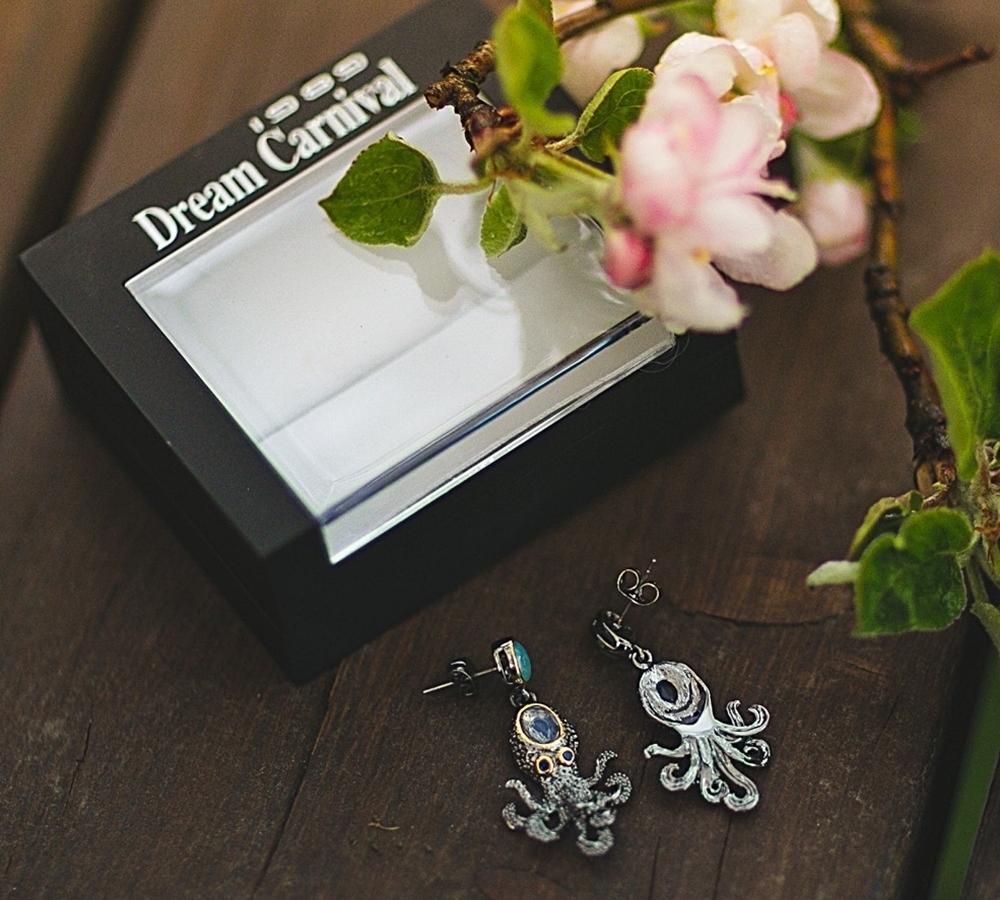WE3875 octopus earrings women vintage gothic jewelry (7)