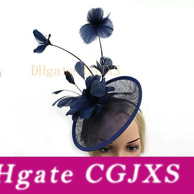 New Large Headband  Feathers Fascinator Weddings Cocktails Royal Ascot Races