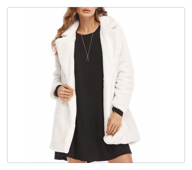 Imitation fur coat European and American women