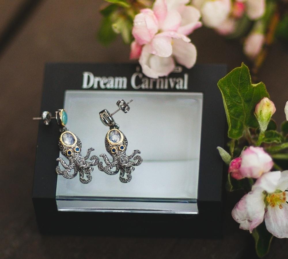 WE3875 octopus earrings women vintage gothic jewelry (6)
