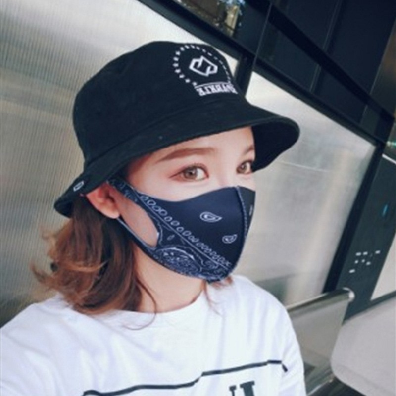Sun Uv Protection Face Cover Mask Earloop Type Foldable Printting Mouth Mask Mascherine Dust Filtrition Respirators Portable 3 28hp E1