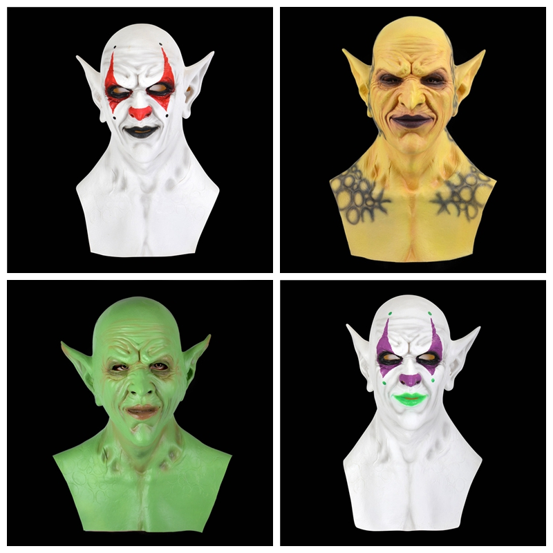 Maschera di Halloween Maschera da diavolo per adulti con corna rimovibile Maschera da demone Maschera horror Scary Head Mask Red Face Mask Fancy Dress for Masquerade Cosplay Theme Party