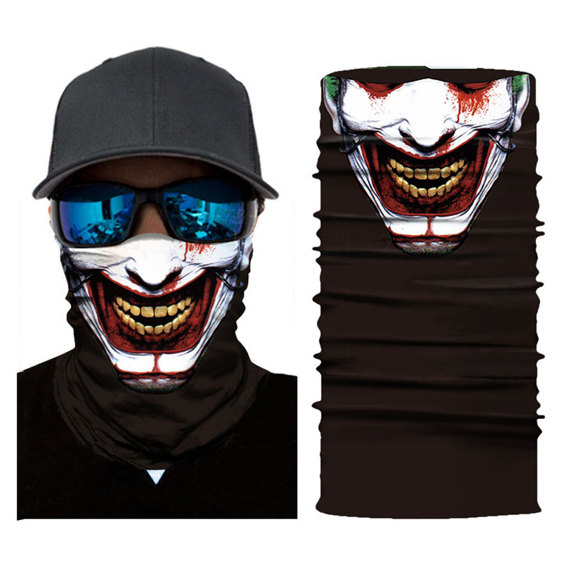 Skull Face Mask Scarf Halloween Party Face Mask Bike Face Mask Ghost Balaclava Masks Cycling Motorcycle Head Scarf Neck #F30ST02 (9)