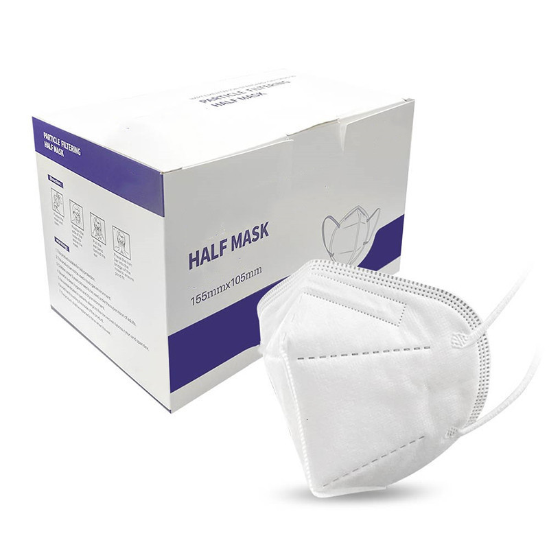 Stock in US Face Mask disposable Adult masks 5 layer protect face cover white box factory wholsale face masks