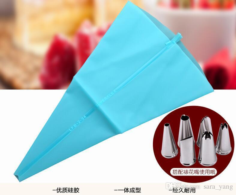 by dhl 34cm Length Silicone Icing Piping Cream Pastry Bag Cake Decorating lin3955