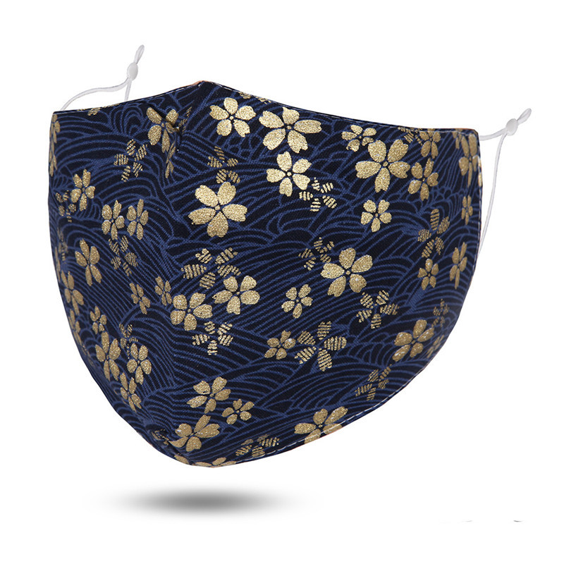 Fashion PM2.5 Dust-Proof Cotton Face Mask New Printed Pattern Flower Breathing Mask Reusable Washable Face Mask