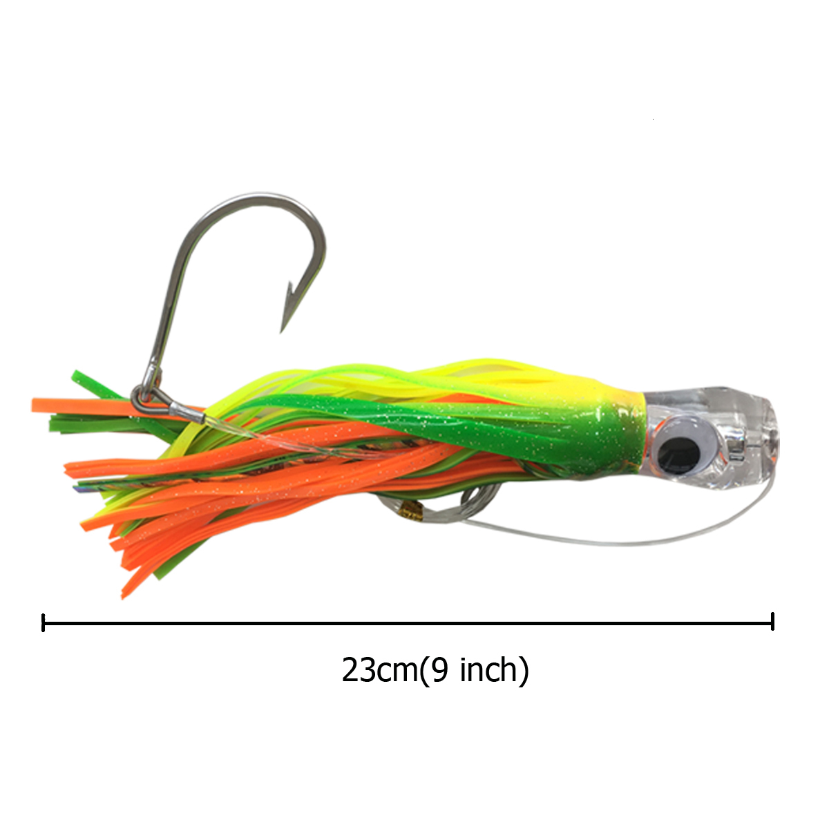 Octopus Skirts Trolling Lures Saltwater Tuna Marlin Wahoo Trolling Skirt Lures with Stainess Steel Hook and Swivel Rigged Leader Hook and Ba