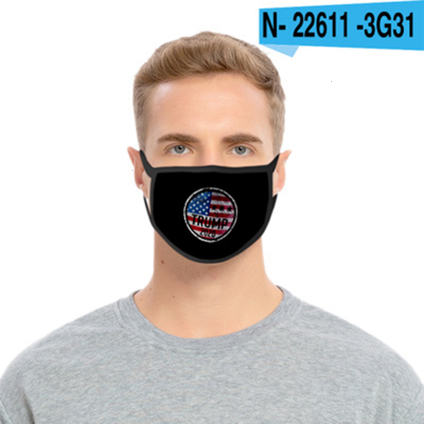 Fashion Trump Face Masks For Adult Kids Keep America Great Washable Reusable Mouth Mask USA President Election Trump 2020 Mask CYZ2660