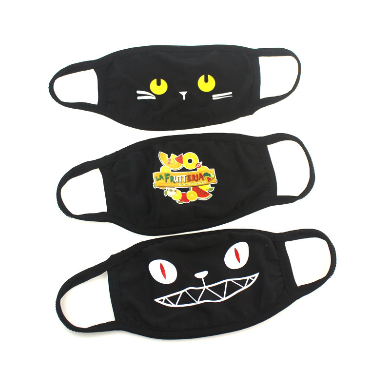 Cotton printed design face mask can be washed in cotton cloth with cartoon cross-border breathable face masks