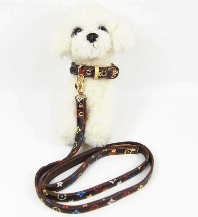 Two-color optional leather dog traction suit pet collar pet supplies manufacturers wholesale0001-01