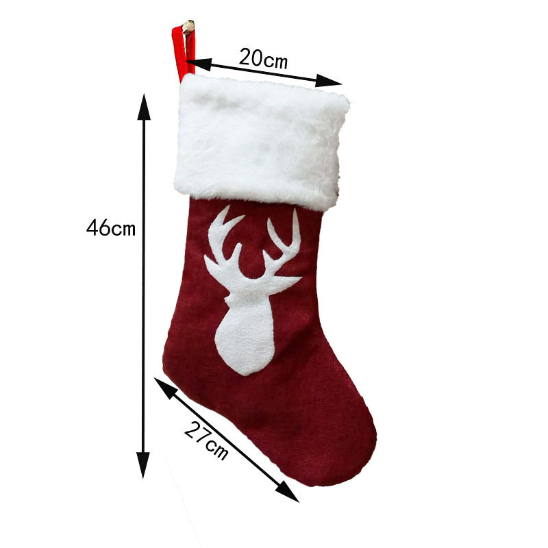 Christmas Stockings Christmas Trees Ornament Party Decorations Santa Christmas Stocking Candy Socks Bags Xmas Gifts Bag KHA540