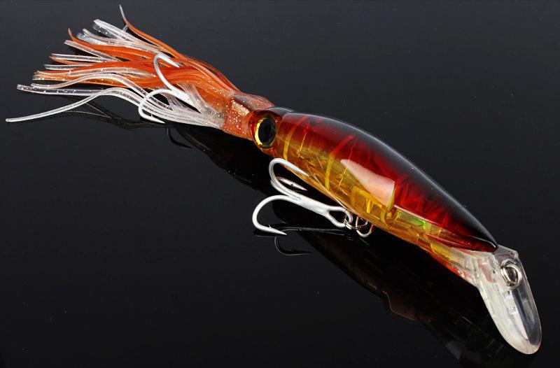 Big Size Sleeve-Fish Squid Skirts Trolling Artificial Bait Hardbody Fishing Lure Bait Tackle Tuna Marlin Kingfish Leurre Pesca Fishing Hooks