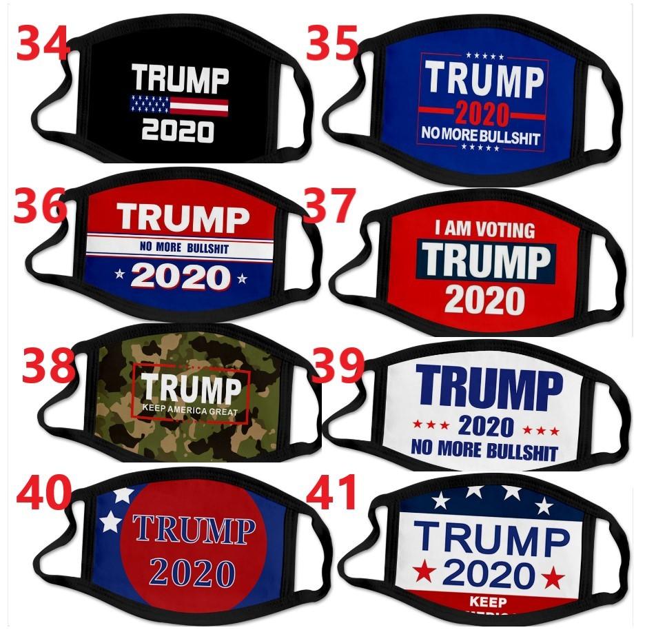 68 types 3D printing Trump 2020 Mask Windproof Cotton Mouth Masks Adult children American Election United States Mask designer Masks DHL