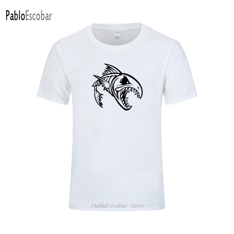 Pescado Hueso Esqueleto de T-Shirt Moda Regalo Gráfico Impreso Indie Unisex Camiseta