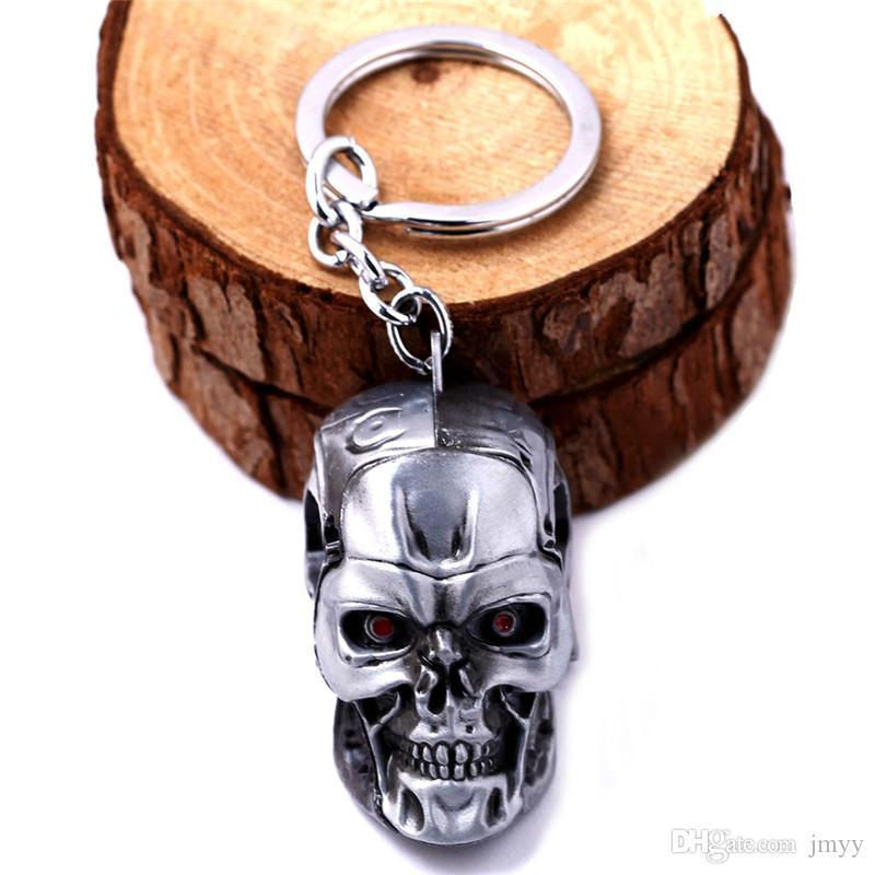 The Terminator Moive Jewelry Skull Head Keychain AlloyKey Rings & keychain For Gift Hot Sale