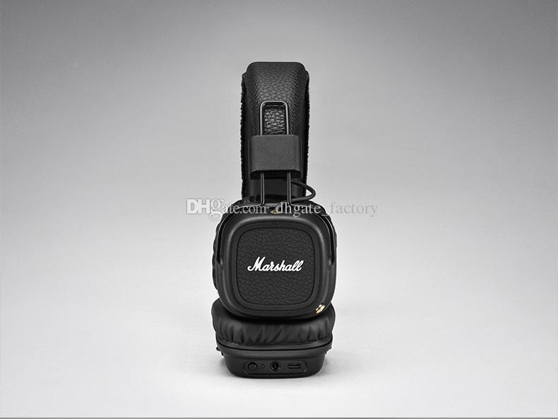 Marshall Major II 2.0 Bluetooth Wireless Headphones DJ Headphone Deep Bass Headset Earphone for iPhone X 8 7 Plus Samsung Note8 S9+