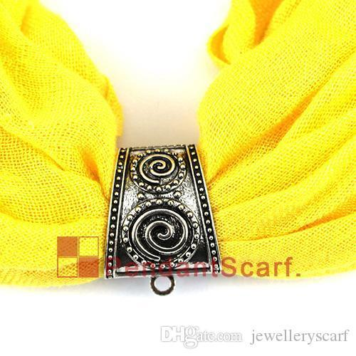 New Design Pendant Scarf Jewelry Spring Opening And Cllosing System Slide Bails Tube Necklace Scarf Pendant Charm, AC0323A