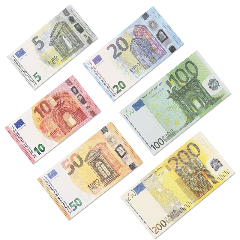 quality prop euro money billet 10 20 50 100 euro money billet euro 20 dollar play money car toy