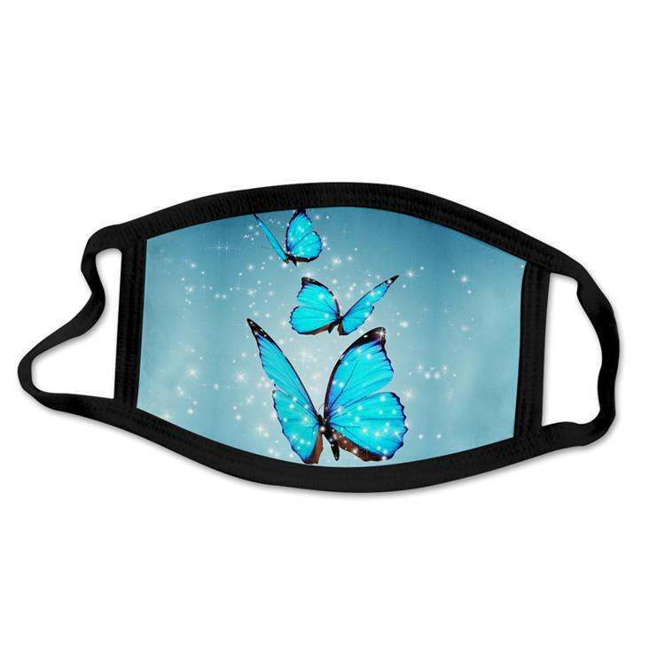 Face Mask Fashion Butterfly Breathable Dust-proof Summer Sunscreen Masks Personality Printing Cycling Mask Designer Masks In stock! 06