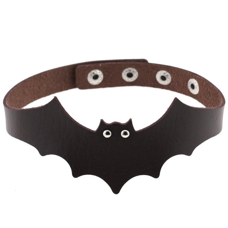 New Fashion Sexy Harajuku Handmade PU Leather Bat Wings Harness Necklace Rock Collar Punk Goth Choker Necklace Torques Chocker Gift