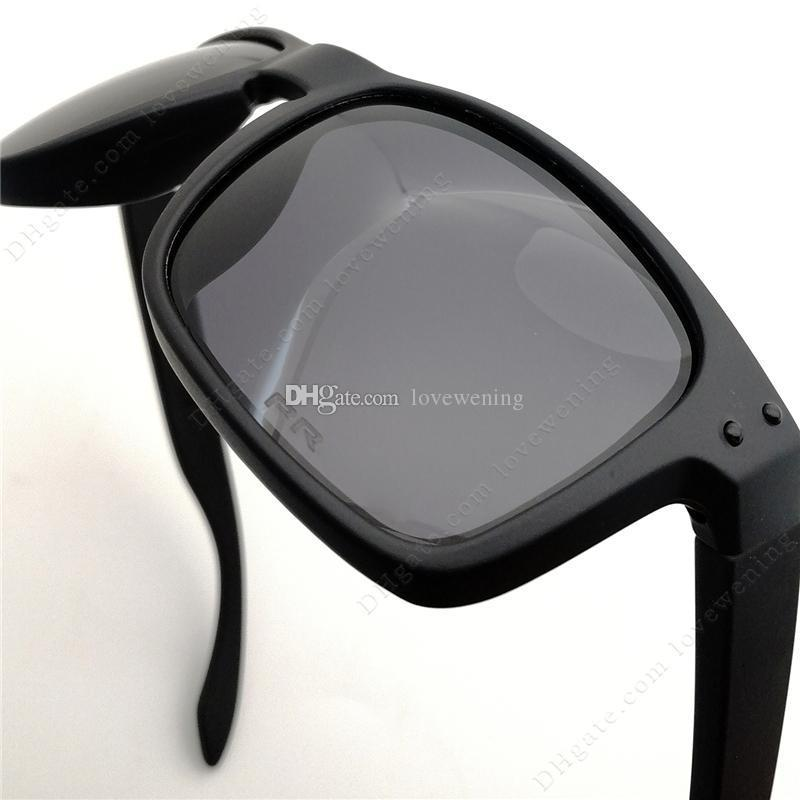 TOP Quality Fashion Polarized Sunglasses Men Black TR90 Frame Grey Lens Etching Y91-02 High-end Glasses Wholesale Customized