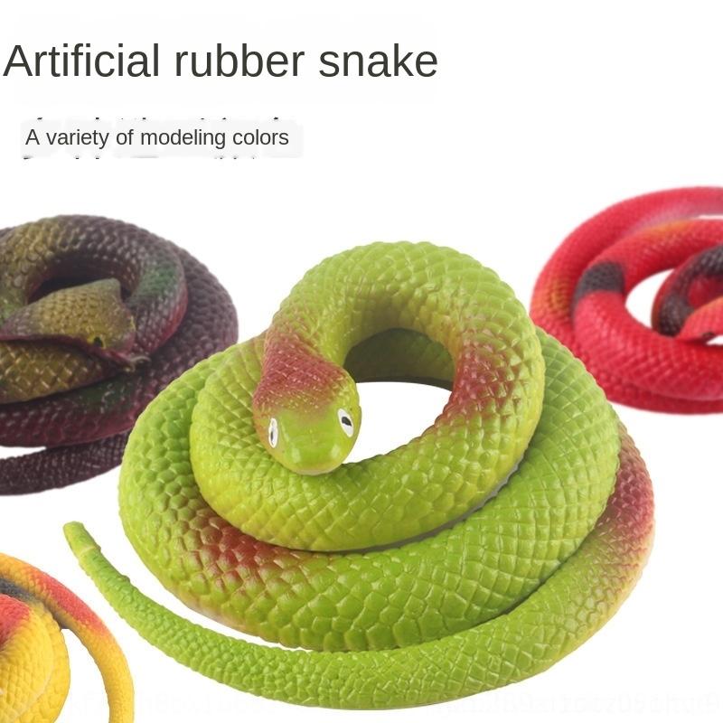 Gummischlange Schlangen Spielzeug Garten Props-grün