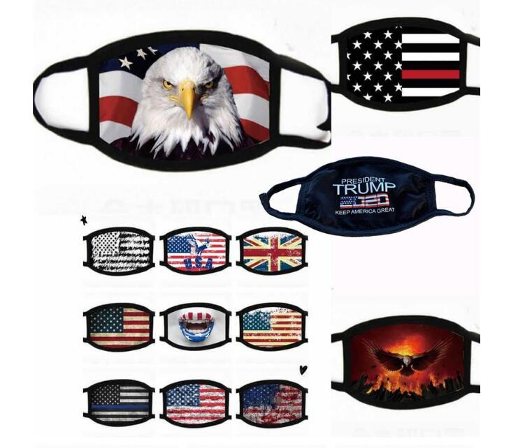 2020 hot Face Masks Trump American Election Supplies Dustproof Print Mask Universal For Men And Women American Flag Mask