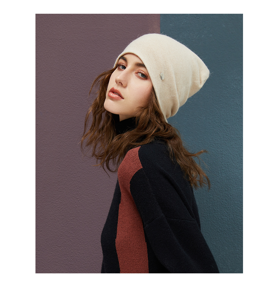 MOSNOW Female Beanies For Girls Cotton High Quality Hat Soft Fashion Accessory Winter New Headwear Brand Hats For Women3 (13)