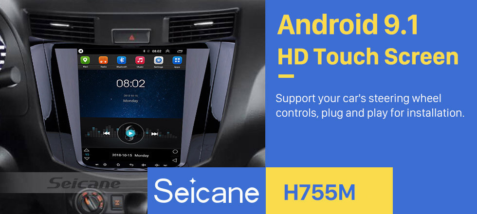 "9.7"" Android 9.1 GPS Radio for 2018 Nissan NAVARA Terra HD Touchscreen navigation with Mirror link Bluetooth music WIFI carplay"