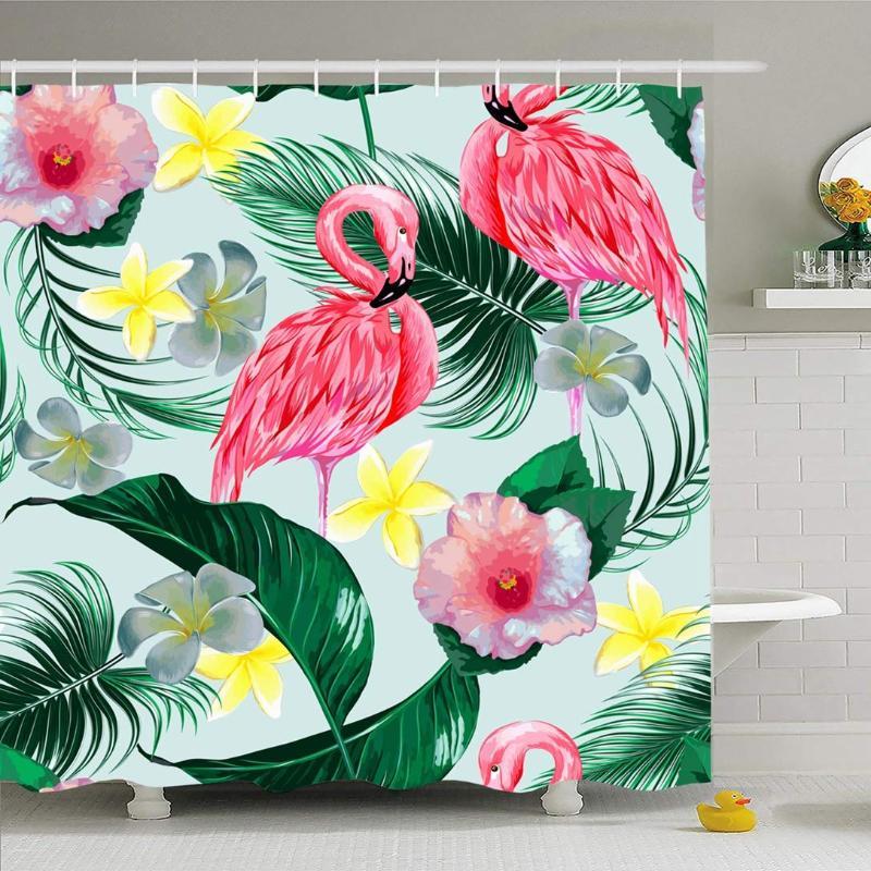 140cm Rosa Flamenco Ave Floral Tela /& Tropical Palma Hoja Vestido Cortinas