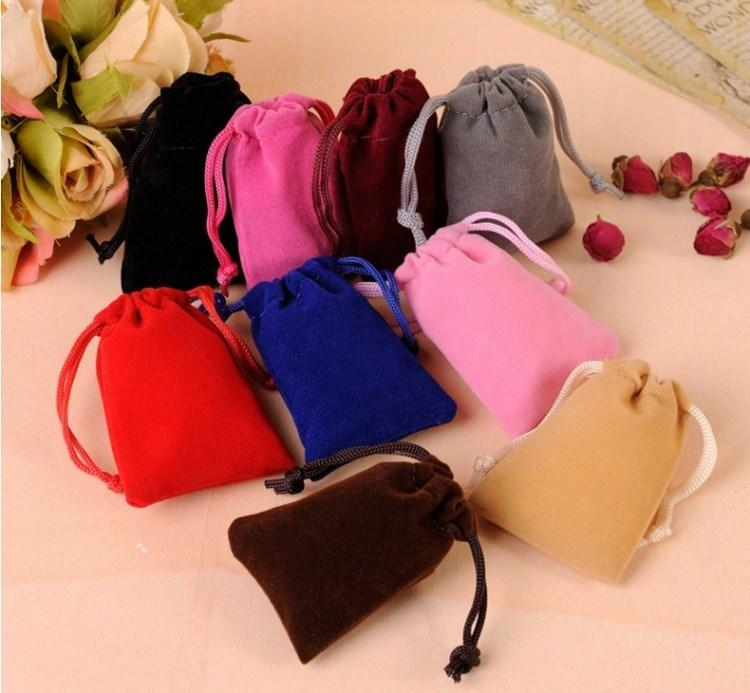 velvet jewelry pouch gift present package mix color fit for necklace bracelet earring