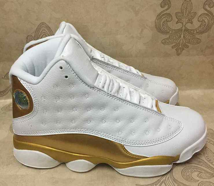 DMP Mens 13 XIII Basketball Shoes White Gold 13s High Quality Men 98 Defining Moments Sports Trainers Sneakers Size 8-13