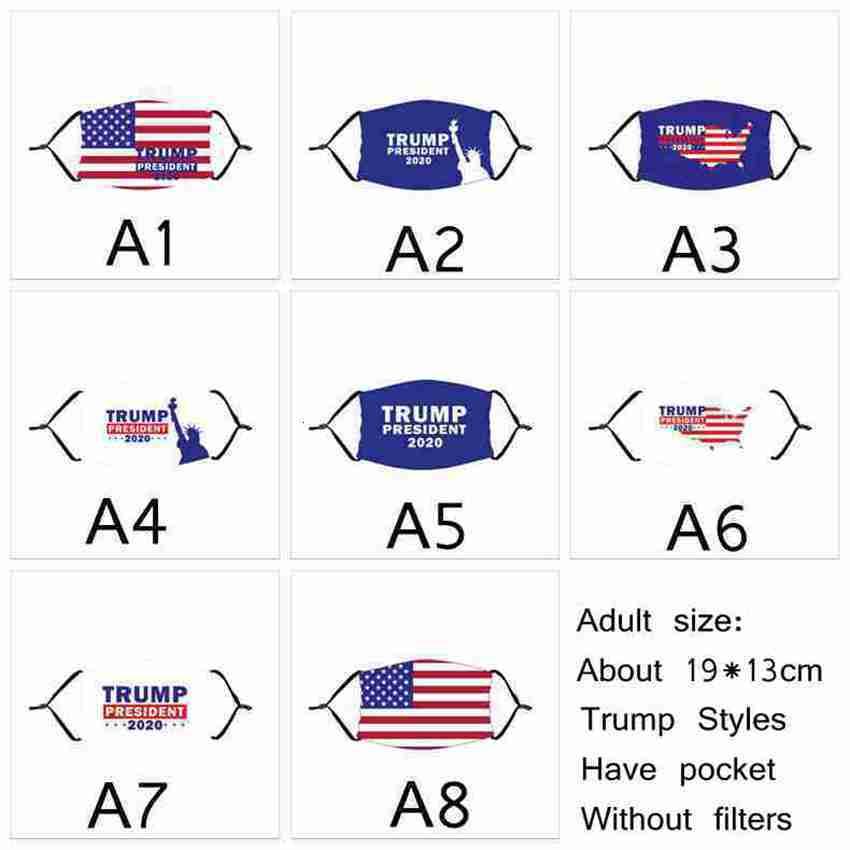 Trump Face Masks For Adult and Kids US Election Masks Dust-proof Washable Reusable Biden Print Mask American Flag Mask CYZ2662