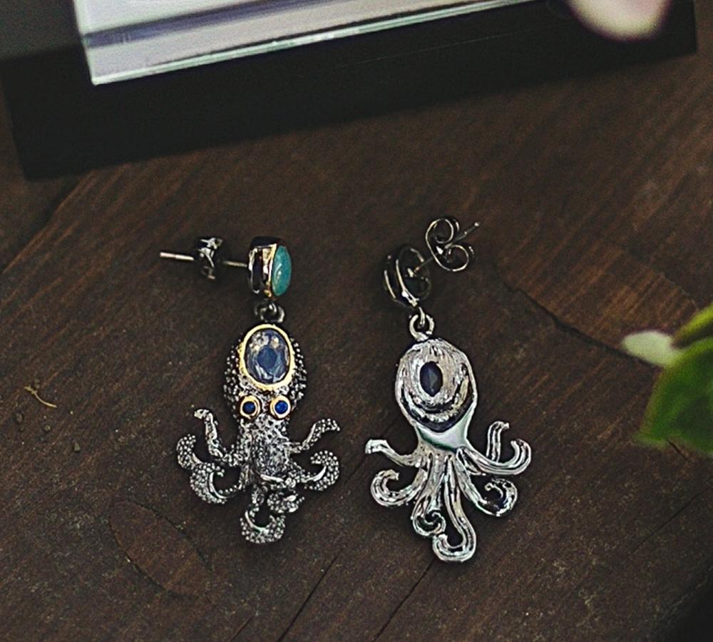 WE3875 octopus earrings women vintage gothic jewelry (8)