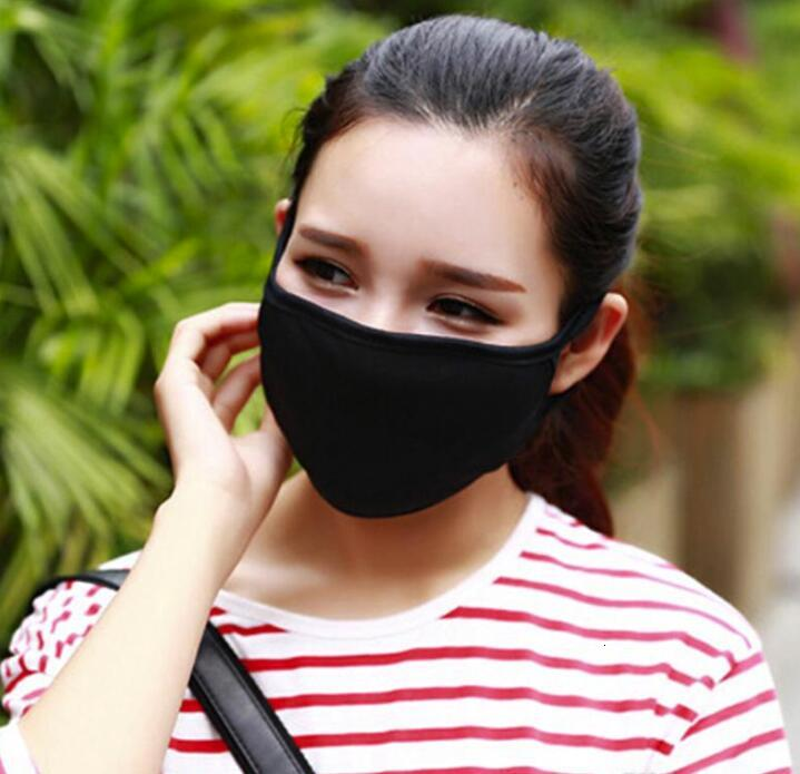 US STOCK !Anti-Dust Cotton Mouth Face Massk Unisex Man Woman Cycling Wearing Black Fashion Cotton Masks Good Quality